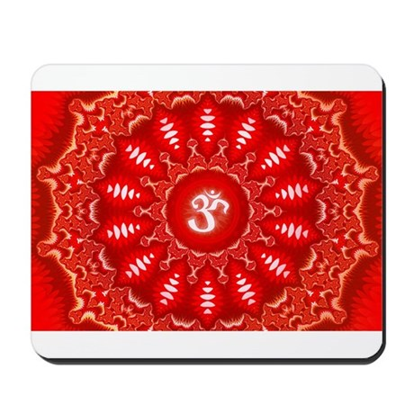 Red Aum Mousepad