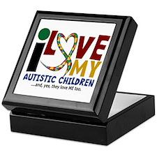 I Love My Autistic Children 2 Keepsake Box