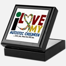 I Love My Autistic Children 2 Keepsake Box