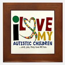 I Love My Autistic Children 2 Framed Tile