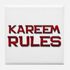 kareem rules Tile Coaster