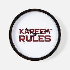 kareem rules Wall Clock