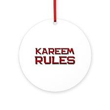 kareem rules Ornament (Round)
