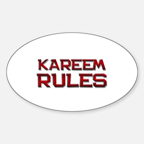 kareem rules Oval Decal