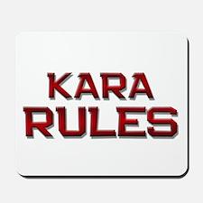kara rules Mousepad