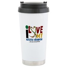 I Love My Autistic Grandson 2 Travel Mug