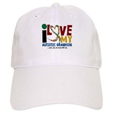 I Love My Autistic Grandson 2 Baseball Cap