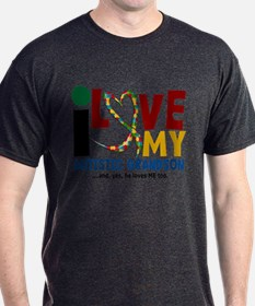 I Love My Autistic Grandson 2 T-Shirt