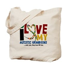 I Love My Autistic Grandsons 2 Tote Bag