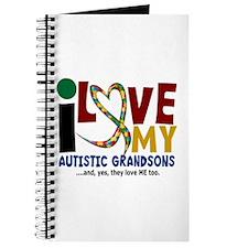 I Love My Autistic Grandsons 2 Journal