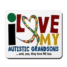 I Love My Autistic Grandsons 2 Mousepad