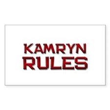 kamryn rules Rectangle Decal