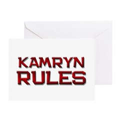 kamryn rules Greeting Card