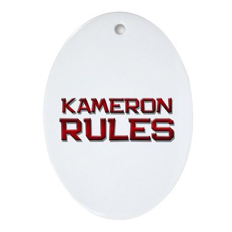 kameron rules Oval Ornament