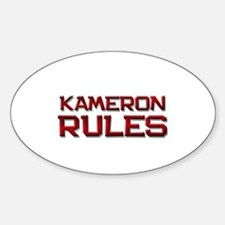 kameron rules Oval Decal