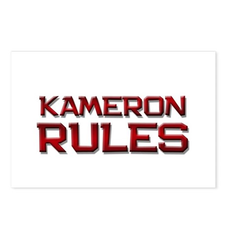 kameron rules Postcards (Package of 8)