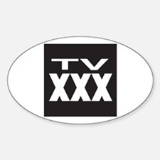 TV XXX Rating Oval Decal