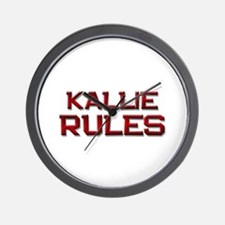 kallie rules Wall Clock