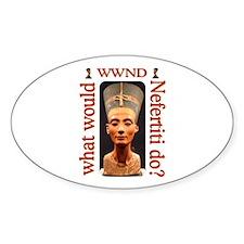 Nefertiti Oval Decal