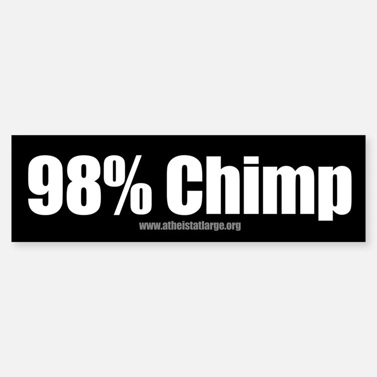 98% Chimp bumper sticker
