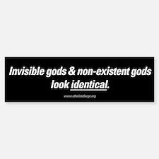 Invisible Gods bumper sticker