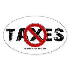 No Taxes Oval Decal