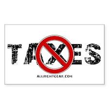 No Taxes Rectangle Decal