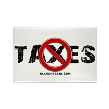 No Taxes Rectangle Magnet (100 pack)