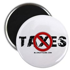 "No Taxes 2.25"" Magnet (100 pack)"