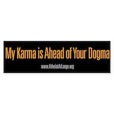 Karma vs. Dogma bumper sticker