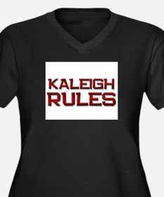 kaleigh rules Women's Plus Size V-Neck Dark T-Shir