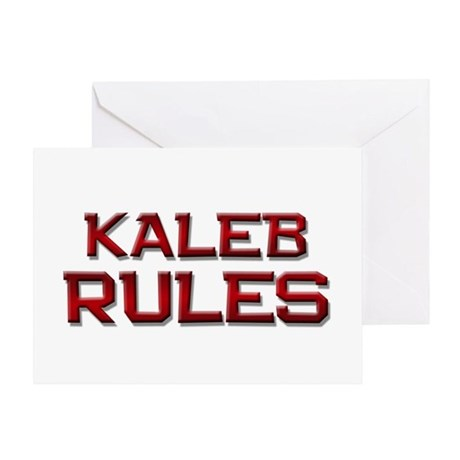 kaleb rules Greeting Card