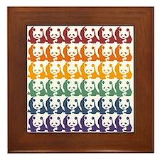 Rainbow Pandas Framed Tile