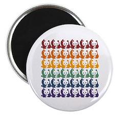 Rainbow Pandas Magnet