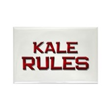 kale rules Rectangle Magnet