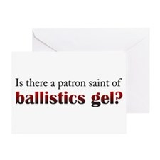 Ballistics Gel Greeting Card