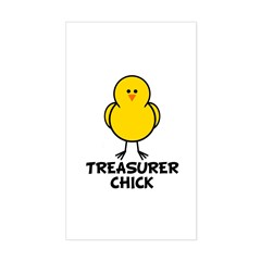Treasurer Chick Rectangle Decal