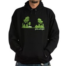 Twilight Shirt- Forks,Washington Tree Line Hoodie