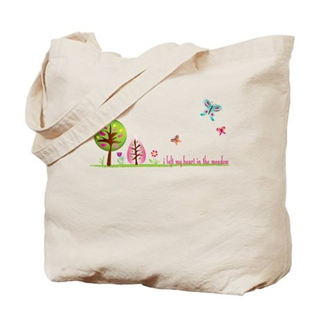 Twilight Shirt-I left my heart in the meadow. Tote