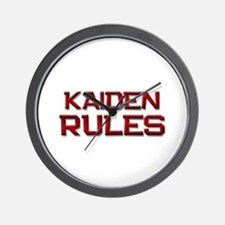 kaiden rules Wall Clock
