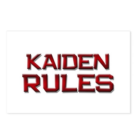kaiden rules Postcards (Package of 8)