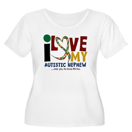 I Love My Autistic Nephew 2 Women's Plus Size Scoo