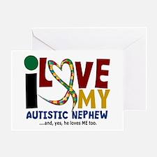 I Love My Autistic Nephew 2 Greeting Card