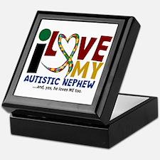 I Love My Autistic Nephew 2 Keepsake Box