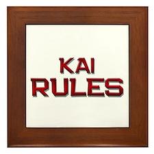 kai rules Framed Tile