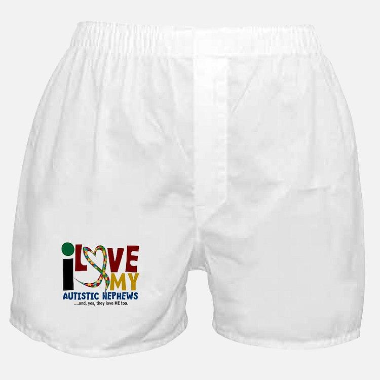 I Love My Autistic Nephews 2 Boxer Shorts