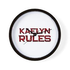 kaelyn rules Wall Clock
