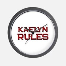 kaelyn rules Wall Clock