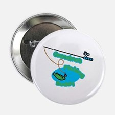 "Grandma's Fishing Buddy 2.25"" Button"