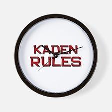 kaden rules Wall Clock
